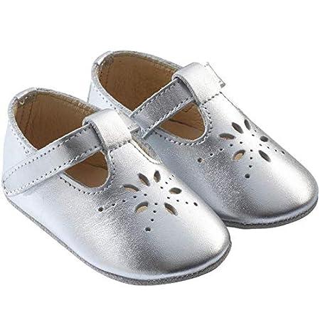 Tichoups Chaussures b/éb/é cuir souple Salom/é gris m/étallique 16//17