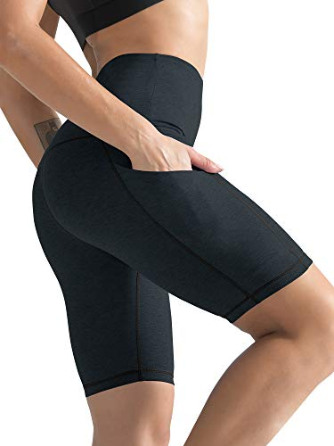 Cadmus Women's High Waist Workout Yoga Shorts Two Side Pocket