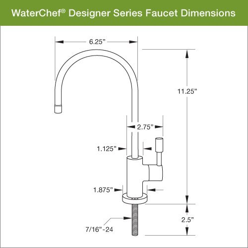 WaterChef® U9000 Premium Under-Sink Water Filtration System (Brushed Nickel Faucet)
