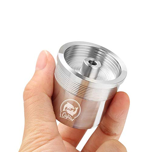 1 Pcs Stainless Steel Reusable iperEspresso Capsule Refillable Coffee Filter X9 X8 Y5 Y3 Coffee Filter Baskets Capsules Coffee Machine (silver)