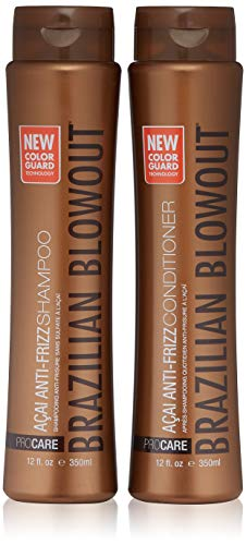 Brazilian Blowout Shampoo and Conditioner, 12 Fl Oz, Pack of 2 (The Best Brazilian Hair)