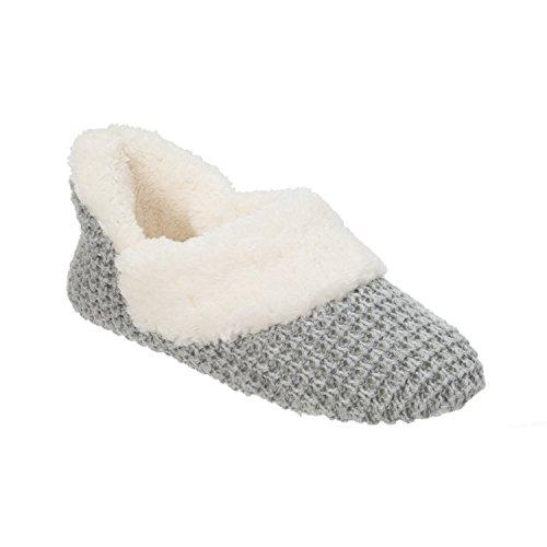 Grey Bootie Sweater Bootie Dearfoams Dearfoams Sweater Knit Grey Knit 8Sxn1gwHw