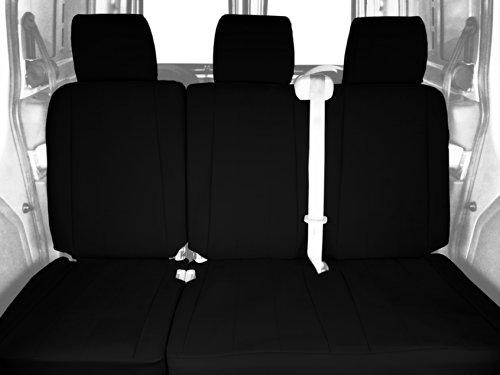 CalTrend Rear Row 60/40 Split Bench Custom Fit Seat Cover for Select Chevrolet Silverado/GMC Sierra Models - DuraPlus (Black) -