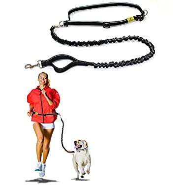 Best Quality Hands Free Dog Leash By Hertzko  Enjoy the Extra Freedom While Walking, Running or Hiking with Your Dog  Strong, Durable and Weather Resistant (48 inches Bungee)