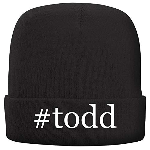 (BH Cool Designs #Todd - Adult Hashtag Comfortable Fleece Lined Beanie, Black)