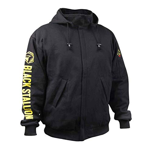 REVCO/BLACK STALLION JF1331 - Large Truguard Cotton Hooded Sweatshirt, Black by REVCO/BLACK STALLION (Image #4)
