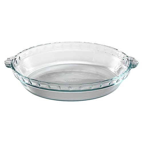 Pyrex Bakeware 9-1/2-Inch Scalloped Pie Plate, Clear (Pack of 3) by Pyrex