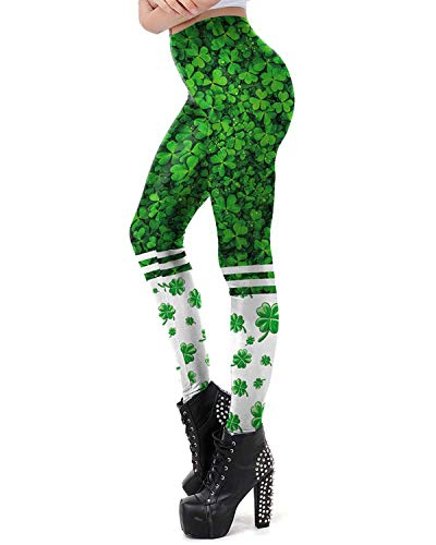 Women's St Patrick's Day Green Four Leaf Clover Luck ()