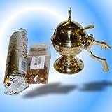 Johar Charcoal Incense Burner (Not Oil) Complete Set