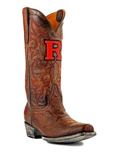 NCAA Rutgers Scarlet Knights Men's Board Room Style Boots, Brass, 9.5 D (M) US ()