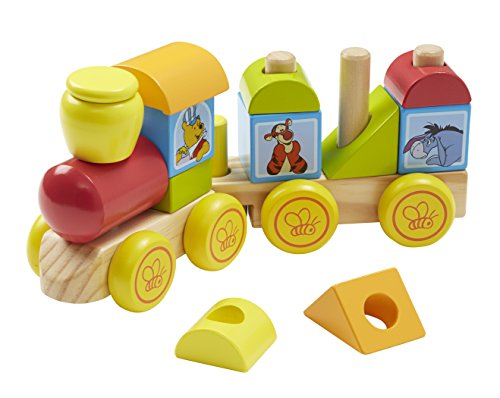 Melissa & Doug Disney Baby Winnie the Pooh Wooden Stacking Train (14 pcs) ()
