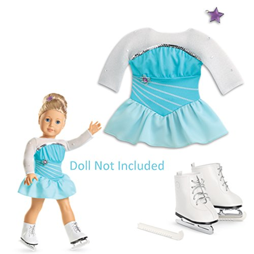 New American Girl - Sparkling Skating Set plus Charm for Dolls - Truly Me 2015