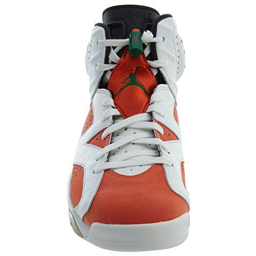 Jordan Nike Mens Air 6 Retrò Scarpe Da Basket Vertice Bianco / Squadra Arancione-nero