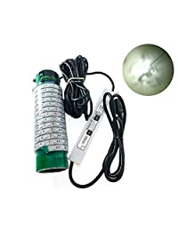 (verde, azul y blanco) Blob luz de pesca nocturna submarina DOCK 7500 lúmenes, 110 V AC 30 ft cable 3 clavijas enchufe, LED Fish Finding System, Bait rig, Fish Attractor, Ponds, Snook