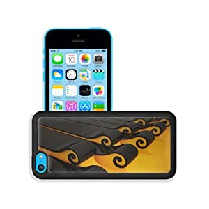 3D View Computers Roll Tsunami Art Apple iPhone 5C Snap Cover Premium Leather Design Back Plate Case Customized Made to Order Support Ready 5 inch (126mm) x 2 3/8 inch (61mm) x 3/8 inch (10mm) MSD iPhone_5C Professional Case Touch Accessories Graphic Cove