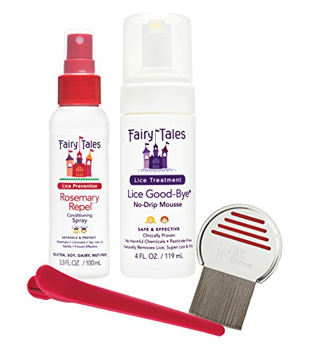Tales Kit - Fairy Tales Lice Good-Bye Survival Kit for Lice Treatment - Includes Treatment Mousse , Conditioning Spray, Comb, & Clip