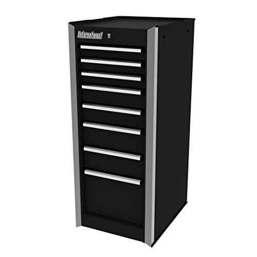 International PRS-3708BK 15-Inch 8 Drawer Professional Series, Side Cabinet, Black (Series Side Cabinet)