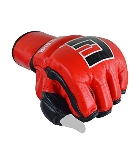 (Combat Corner Ammy MMA Tech Fight Gloves | Punch Bag Mitts Sparring Punching Training MMA Fighting Sports | Medium | 6 oz)