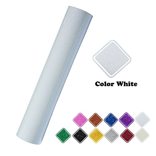 Heat Transfer Vinyl Roll Glitter Colorful White 10