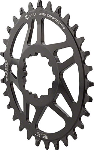 Wolf Tooth Components Drop-Stop Elliptical Chainring: 34T...