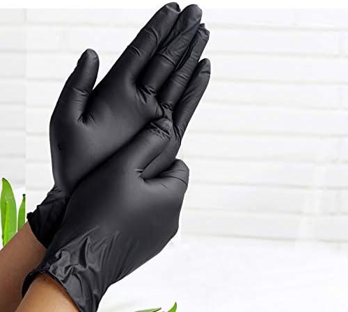 STAMONY 100 50PCS Gummi-Handschuhe K/üche RubberGarden Handschuhe allgemeinhin for Linke und rechte Hand Einweg-Latexhandschuhe Handschuhe Color : 100pcs Black, Size : M