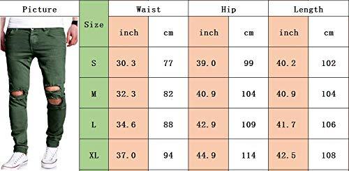 S Style 2xl Attillati E Libero Strappati Lunghi Per 2 Tempo Slim Il 1 Fit Nero Jeans Somthron Uomo nwqO46ZZ