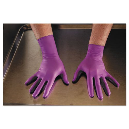 KIMBERLY-CLARK PROFESSIONAL* PURPLE NITRILE Xtra Exam Gloves, Large, 12 in Length - 500 gloves per case, 10 boxes of 50 gloves.