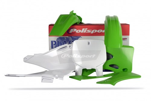 (Polisport Plastics Kit Green for Kawasaki KX125 KX250 99-02 )