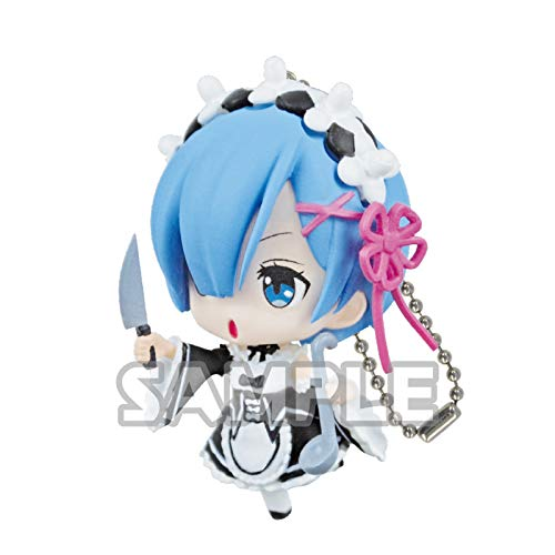 Bushiroad Re:Zero Starting Life Rem Knife Ver. Ippai Petite Character Gacha Capsule Mini Toy Figure Key Chain Mascot Collection Anime Art ()