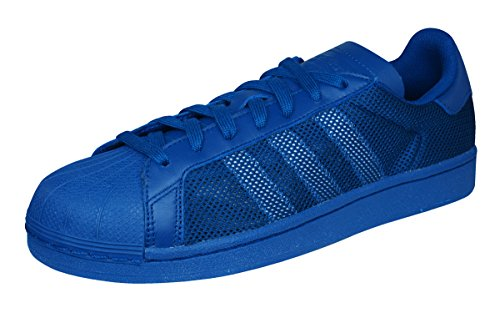 adidas Originals Superstar Triple Mens Sneakers/Shoes-Blue-7 (Mens Triple Star Adidas)