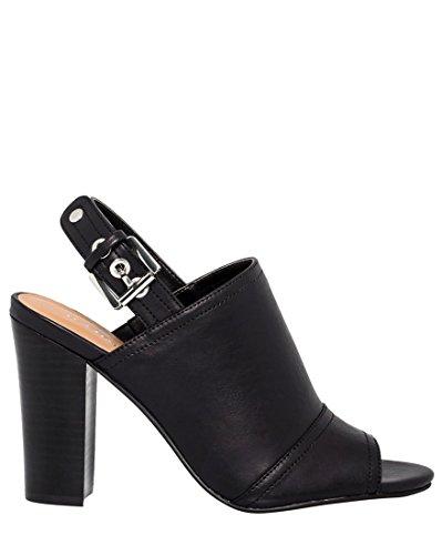 LE CHÂTEAU Peep Toe Sandal Bootie,6,Black