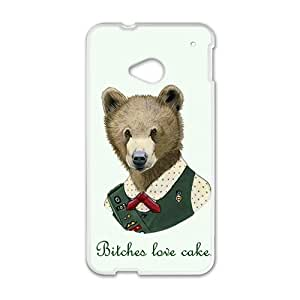 Bitches love cake Case Cover For HTC M7