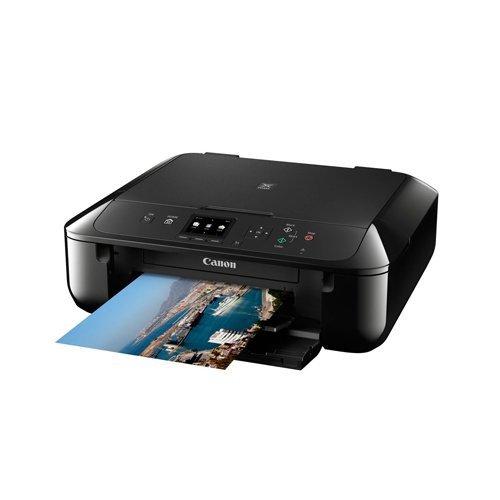 Canon Pixma MG5750 Farbtintenstrahl-Multifunktionsgerät (Drucken, Scannen, Kopieren, 5 separate Tinten, WLAN, Print App, Duplex, 4.800 x 1.200 dpi) schwarz