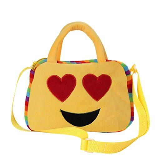 Suiez Cute Emoji Bag Shoulder Bags Soft Plush