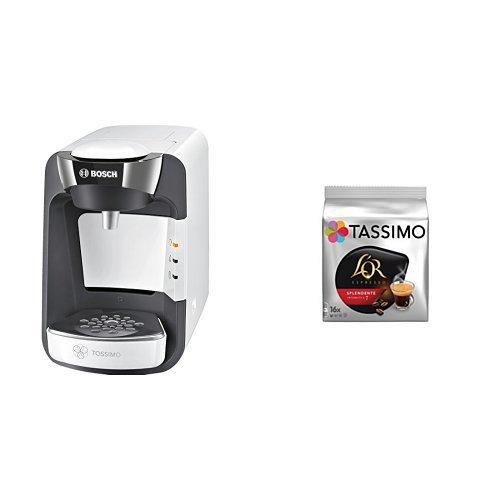 Bosch TAS3204 Tassimo Suny (color blanco) + Pack café 5 paquetes ...