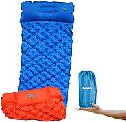 Senston Camping Sleeping Pad - TPU+40D Nylon Composite Material Inflatable Compact Sleep Mat Waterproof Mattre