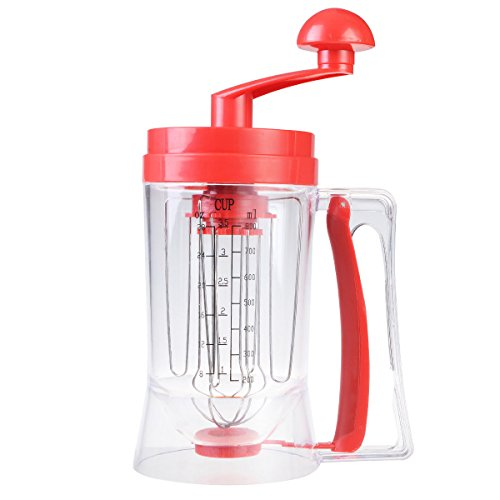 Costzon Manual Pancake Batter Dispenser Cupcake Waffles Mixing System Baking Mixer