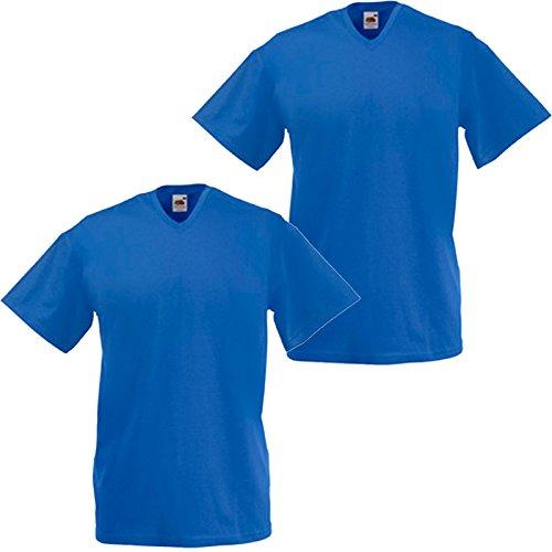 Fruit of the Loom - Camiseta - Manga corta - para hombre azul cobalto