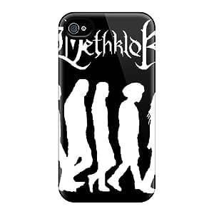 Durable Hard Cell-phone Case For Iphone 4/4s With Custom Lifelike Dethklok Image SherieHallborg