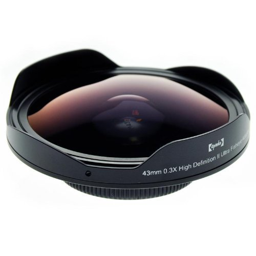 Opteka Platinum Series 43mm 0.3X HD Ultra Fisheye Lens for D