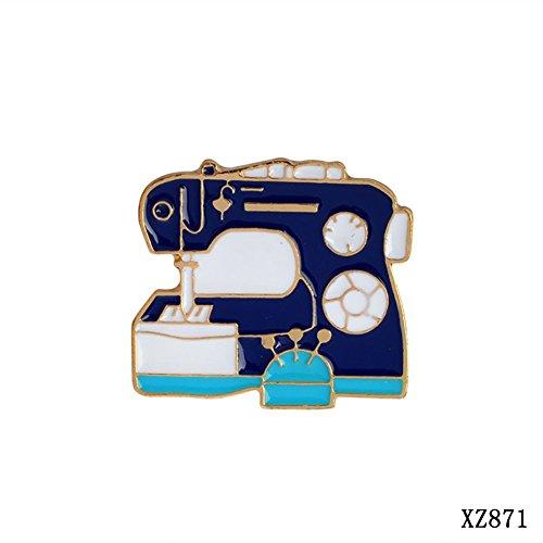 JIEPING Palette Pigment Detergent Sewing Machine Flower Badge Corsage T-shirt Collar Pins