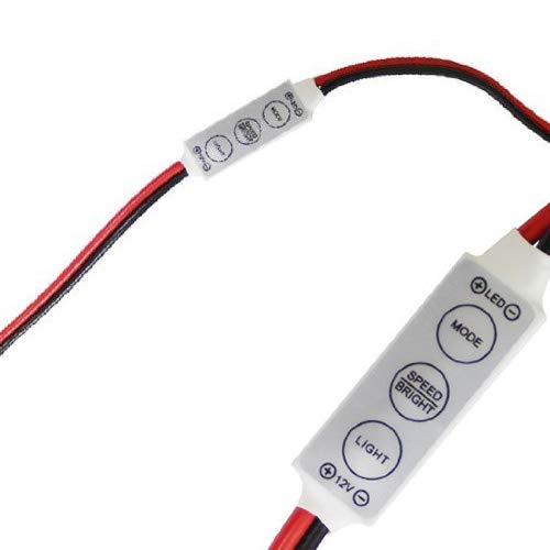 iJDMTOY (1) 12V Wired Control Module w/Solid, Strobe and Flash Features For Car, Boat, Household LED Strip or LED Bulb