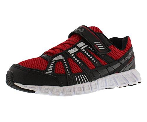 FILA Kids Volcanic Runner Sneaker Red/Black/Silver 8J8J0mXnR