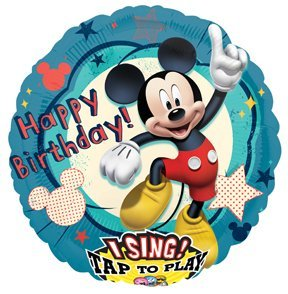 MICKEY MOUSE ClubHouse Happy Birthday Party SING A Tune Singing Birthday Balloon (Singing Birthday Balloons)