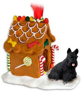 SCOTTY SCOTTISH TERRIER Dog NEW Resin GINGERBREAD HOUSE Christmas Ornament 42