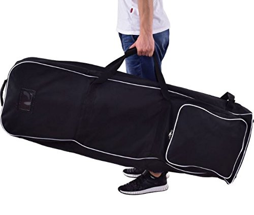 K&A Company Golf Bag Foldable Travel Cover Wheel Black Outdoor Club Oxford Carrying Case Durable Cloth by K&A Company (Image #2)