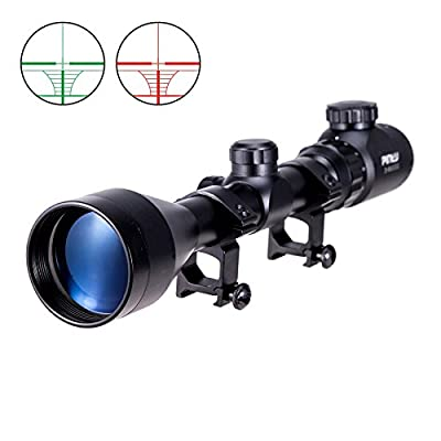 Pinty 3-9x50 Red Green Rangefinder Illuminated Optics Sight Scope Hunting Rifle Scope by Pinty