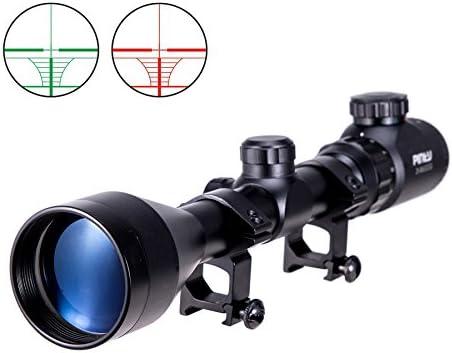 Pinty 3-9×50 Red Green Rangefinder Illuminated Optics Sight Scope Hunting Rifle Scope