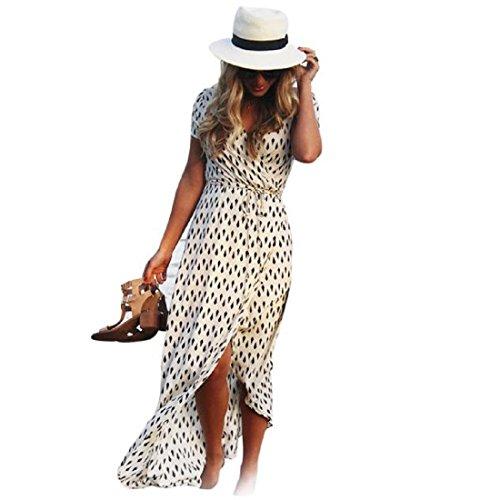 Women Midi Dress Plunge V Neck Bandage Belt Solid Color Long Sleeve - 2