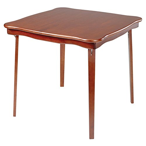 Wood Folding Table (Meco Scalloped Edge Folding Card)